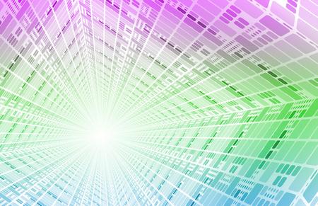 Technology Network avec Circuit Board du flux de données Banque d'images - 25913219