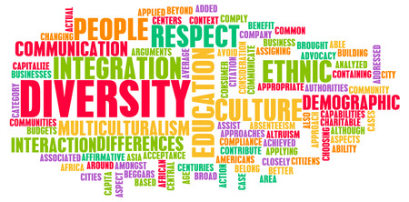 Diversiteit in cultuur en de mensen als een Concept