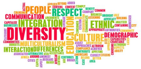 diversidad cultural: La diversidad en la cultura y la gente como un concepto