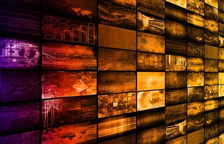 Latest Technology Around the World as Art Stock Photo - 26051564