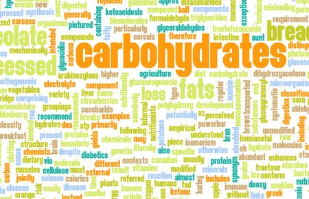 high calorie foods: Carbohydrates Weight Loss Concept with Removing It