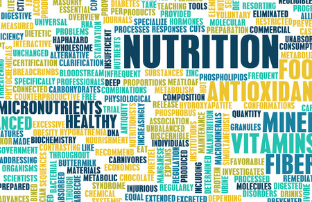 nutritionist: Nutrition Abstract as a Word Cloud Art Stock Photo