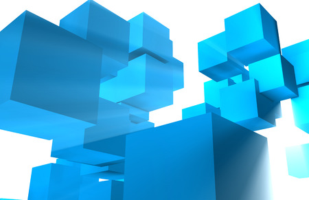 Futuristic Cubes and Squares as a Abstract Stock Photo - 26152022