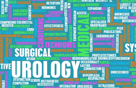 medical field: Urology or Urologist Medical Field Specialty As Art Stock Photo