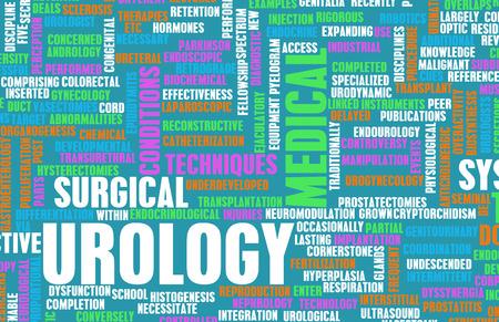 terminology: Urology or Urologist Medical Field Specialty As Art Stock Photo