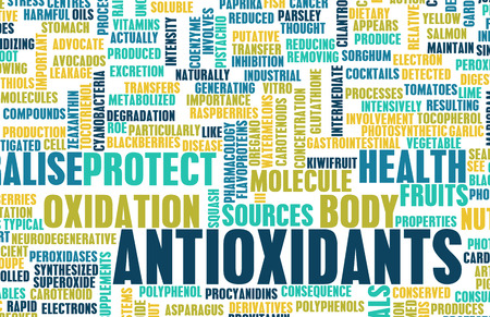 Antioxidantien Concept oder Anti Oxidantien oder Antioxidationsmittel Lizenzfreie Bilder