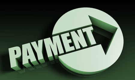 Payment Concept With an Arrow Going Upwards 3D photo
