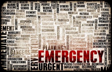 Planification d'urgence et la réaction aux catastrophes comme concept Banque d'images