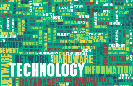 Technology Concept as a Abstract Word Cloud Art photo
