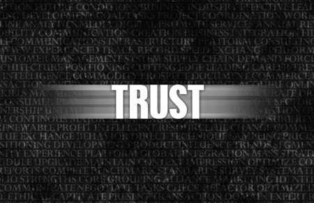 Trust in Business as Motivation in Stone Wall Stock Photo - 27415012