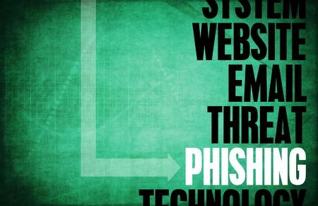 Phishing menace et de la protection de la sécurité informatique Banque d'images