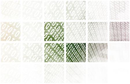 byte: Binary Data Stream with Arrows on Digital Abstract Stock Photo