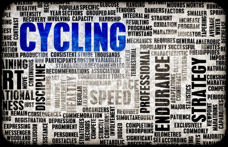 terminology: Cycling with Your Bicycle as a Recreational Sport Stock Photo