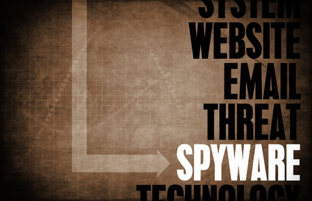 Spyware Computer Security Threat and Protection Stock Photo