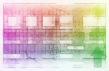 isp: Technology Background with Clean Simple Lines as Art Stock Photo