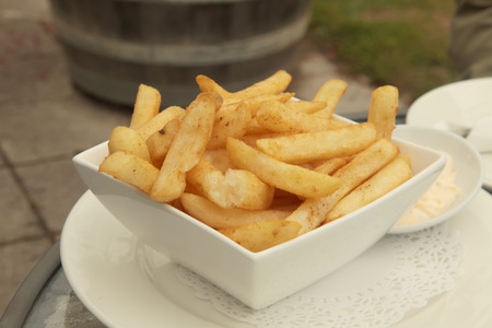 sinful: French Fries with Aioli Mayonaise Dip Meal