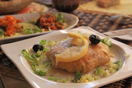 moroccan cuisine: Morocco Pastilla a Popular Moroccan Dish with Sides