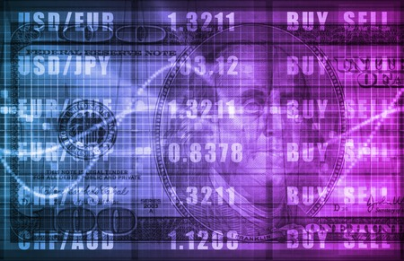 money matters: Investment Portfolio Art as a Abstract Background