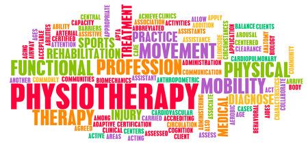 Fisioterapia como un arte de concepto médico de Carrera