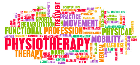strength therapy: Physiotherapy as a Medical Career Concept Art Stock Photo