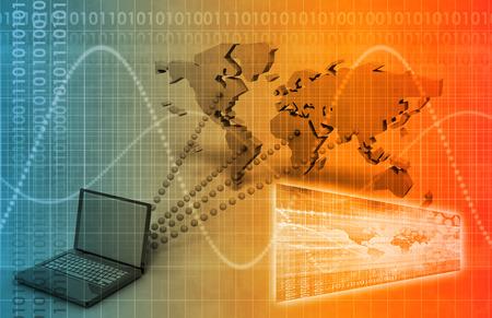 Online Learning and Training in einem virtuellen Klassenzimmer Standard-Bild - 28801797