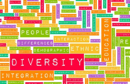 La diversité dans la culture et le peuple comme un concept Banque d'images