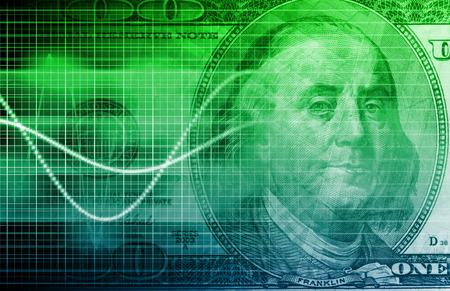 Stock Market Analysis und Geldwechsel Kunst