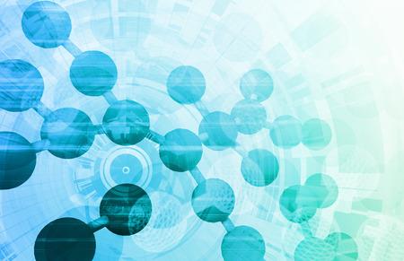La recherche médicale avec la molécule en tant que concept Banque d'images - 29007469
