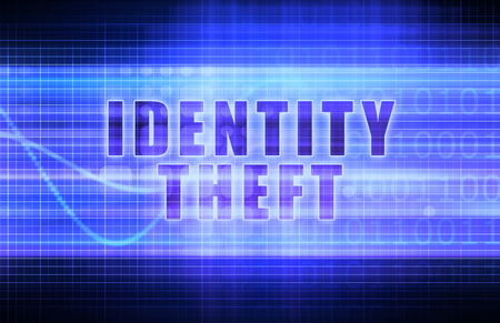 Identity Theft on a Tech Business Chart Art photo