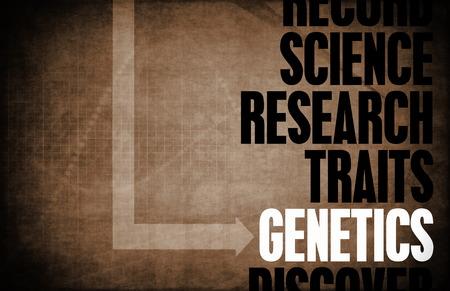 Genetics Core Principles as a Concept Abstract photo