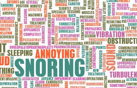 apnoe: Schnarchen oder Apnoe als Annoying Schlaf Trait Lizenzfreie Bilder
