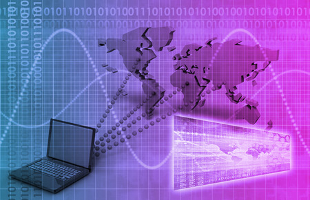 it tech: Broadcast Engineering and Online Tracker as Art Stock Photo