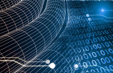 Imagerie numérique avec le réseau de transfert de données Art Banque d'images