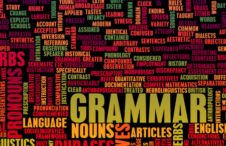 grammatical: Grammar Learning Concept and Better English Art Stock Photo