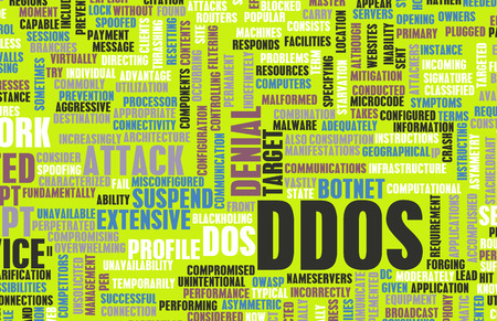 distributed: DDOS Distributed Denial of Service Attack Alert Stock Photo