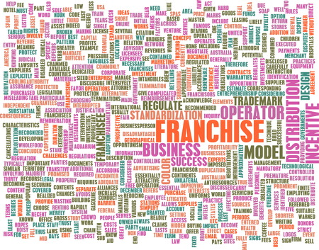 intentions: Franchise Business Concept as a Abstract Art Stock Photo