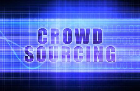 crowd sourcing: Crowdsourcing on a Tech Business Chart Art