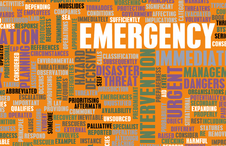 Emergency Planning and Disaster Response as Concept photo