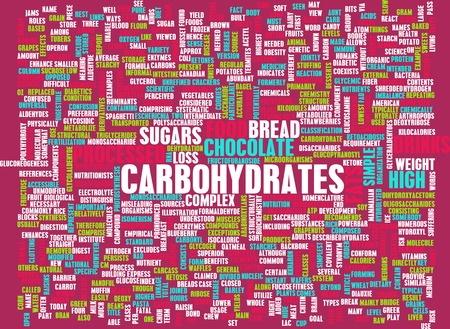 carbohydrates: Carbohydrates Weight Loss Concept with Removing It