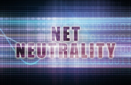 neutrality: Net Neutrality on a Tech Business Chart Art Stock Photo