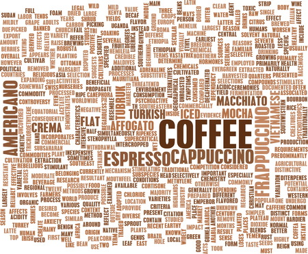 blends: Coffee Background with Different Blends and Types