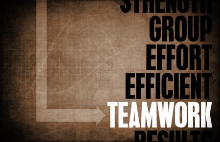Teamwork Core Principles as a Concept Abstract photo