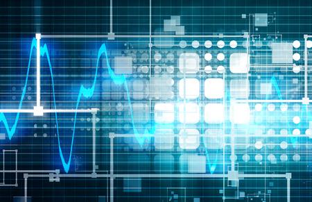 Technik Engineering und Wellenlängenspektrum Web Data Standard-Bild