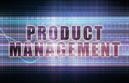 art product: Product Management on a Tech Business Chart Art Stock Photo