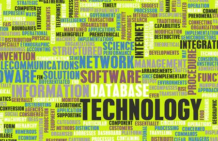 Technology Diversified Types of Technologies as Concept photo