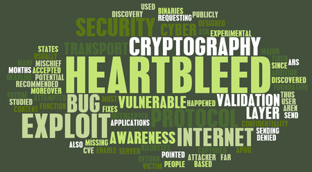 exploit: Heartbleed Technology Exploit Bug Alert as Concept