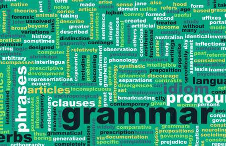 verbs: Grammar Learning Concept and Better English Art Stock Photo