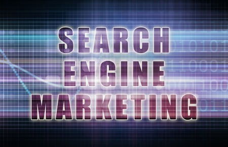 sem: Search Engine Marketing or SEM on Business Chart Stock Photo