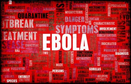 Ebola épidémie de maladie de virus et de crise Art