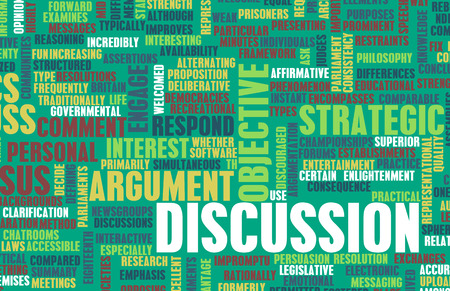 Discussion or Debate as a Verbal Concept Art Stok Fotoğraf